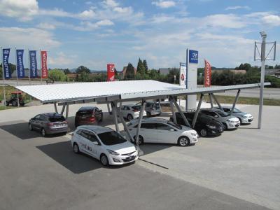 Aluminium PV carports