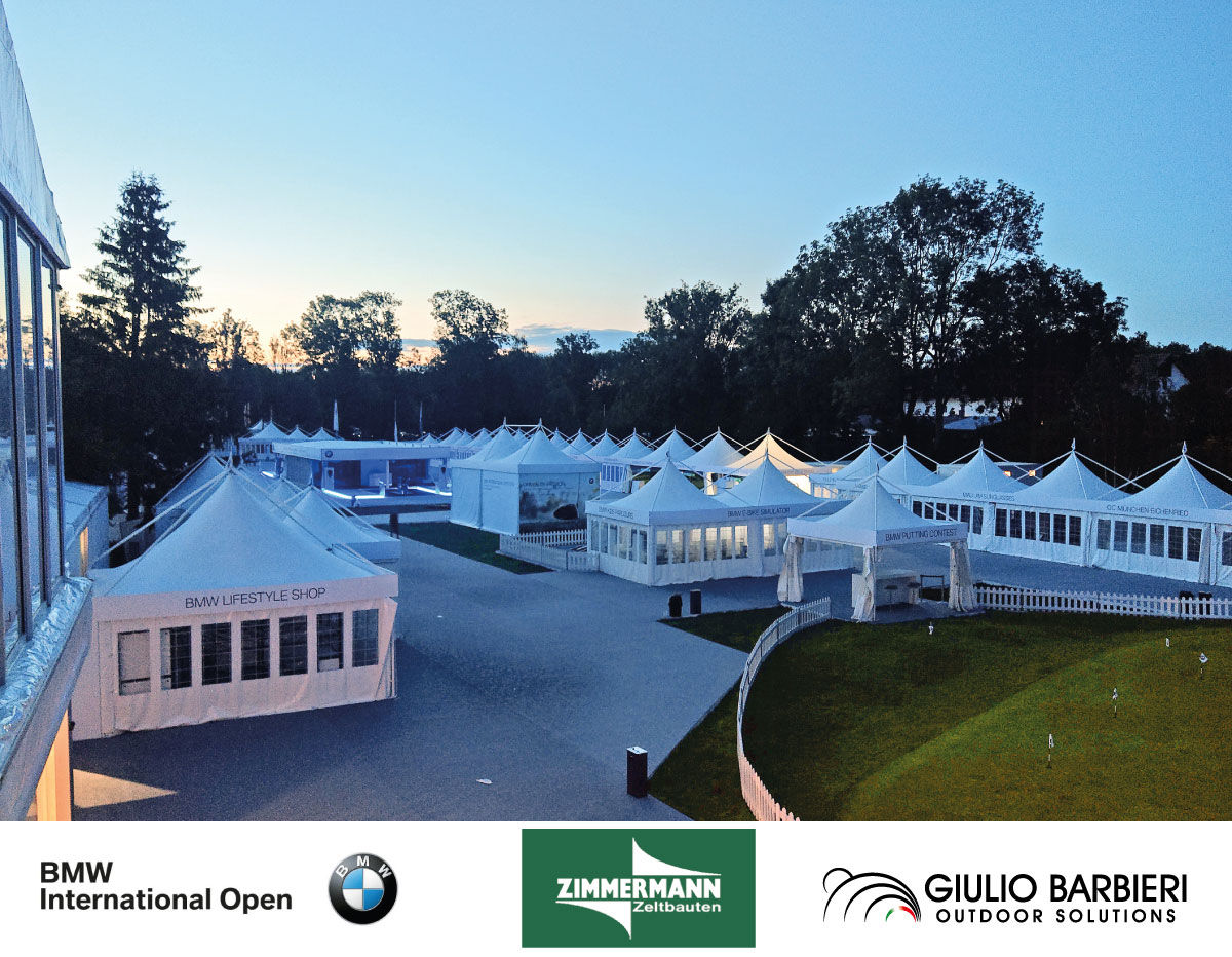 gazebo professionali per il bmw international open