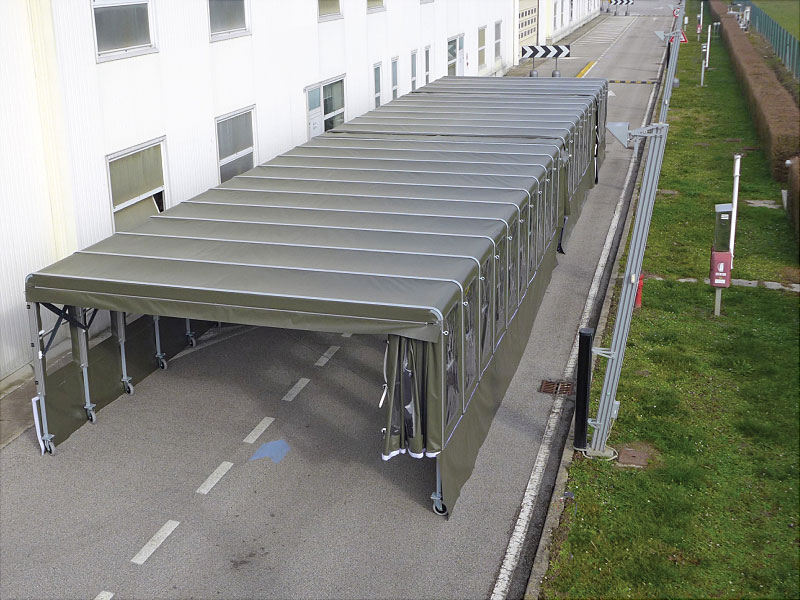 DOCK SHELTER & MOBILE LAGERZELT
