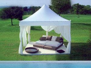 Terrassenpavillon und Gartenpavillon