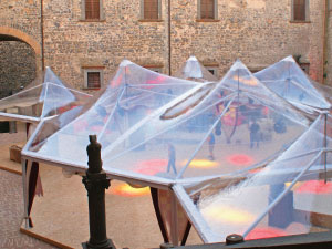 Gazebo ottagonale per showroom, eventi e matrimoni