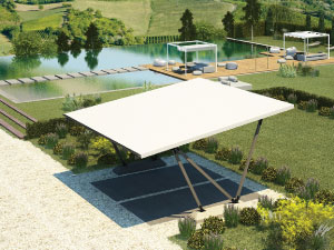 Pensilauto-carport for private house