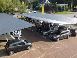 aluminium carport, cantilever structure