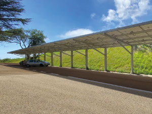 solar carport made in aluminium
