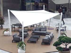 Shade sail for event