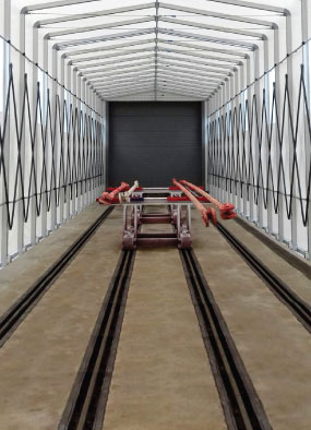 retractable tunnels for sport, industry, logistics
