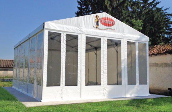 Clear span tent for industry