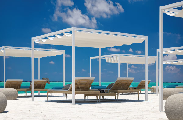 Onda - shading canopy for beach