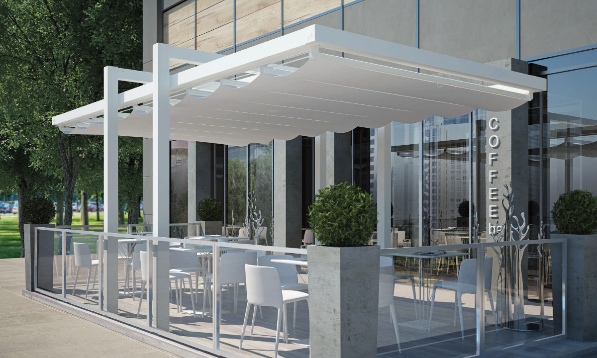Albatro: pergola apribile - retractable sun shade