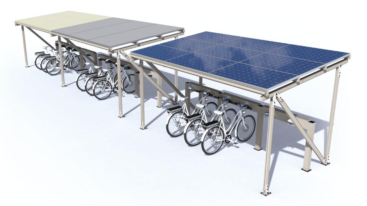 stazione di ricarica per biciclette elettriche