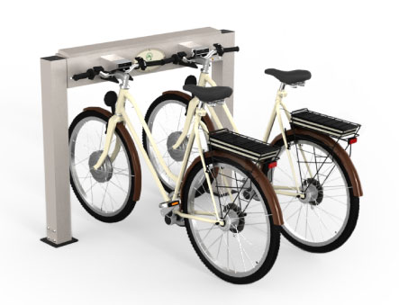 stazione di ricarica per biciclette elettriche - e-bike sharing