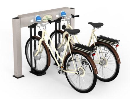 Aufladestation für Elektro-Fahrräder