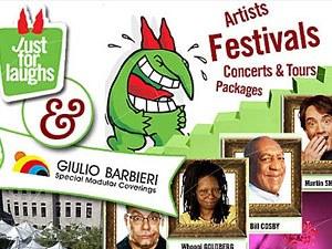 """Canada - I gazebo in alluminio Giulio Barbieri al Festival """"Juste pour rire 2009"""" di Montréal"""