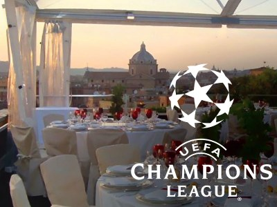 GAZEBO PER OSPITARE LA UEFA CHAMPIONS LEAGUE