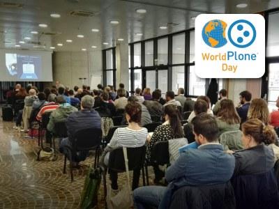 Giulio Barbieri presenta il proprio sito web al Plone Day 2017 - Quartiere fieristico di Bologna