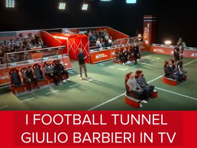 I football tunnel Giulio Barbieri protagonisti dei più famosi set televisivi orientali