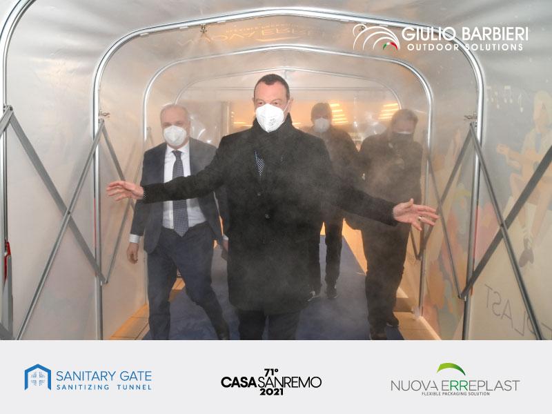 Il tunnel sanificante Sanitary Gate presso la Città dei Fiori