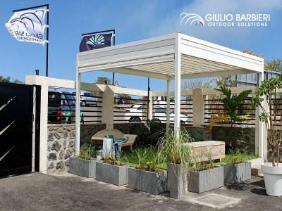 Non più solo i gazebo professionali Giulio Barbieri sulla lontana isola della Réunion